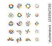 colorfull business icons set  ... | Shutterstock .eps vector #1233567250