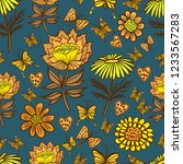 vector seamless pattern with... | Shutterstock .eps vector #1233567283
