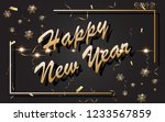 2019 happy new year with gold...   Shutterstock .eps vector #1233567859