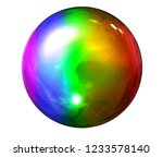 a beautiful glass sphere in...   Shutterstock . vector #1233578140