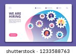 we are hiring concept. finding... | Shutterstock .eps vector #1233588763