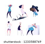mental disorders. depressed and ... | Shutterstock .eps vector #1233588769