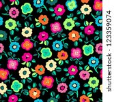 Cute Floral Ditsy Seamless...