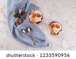 figs pudding parfait with... | Shutterstock . vector #1233590956