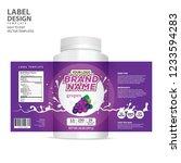 bottle label  package template... | Shutterstock .eps vector #1233594283