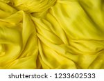 smooth elegant golden silk ... | Shutterstock . vector #1233602533