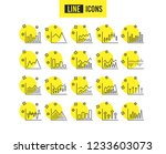financial charts line icons....   Shutterstock .eps vector #1233603073
