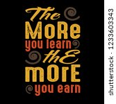 motivation quote  the more you...   Shutterstock .eps vector #1233603343