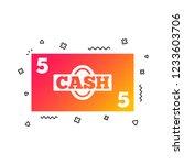 cash sign icon. money symbol....   Shutterstock .eps vector #1233603706