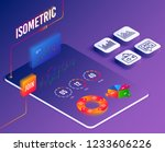 isometric vector. set of... | Shutterstock .eps vector #1233606226