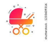 baby pram stroller sign icon....   Shutterstock .eps vector #1233609316