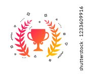first place cup award sign icon.... | Shutterstock .eps vector #1233609916