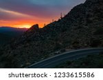 a colorful sunset in the... | Shutterstock . vector #1233615586