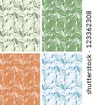 set of seamless floral pattern. ... | Shutterstock .eps vector #123362308