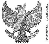 batik culture on garuda... | Shutterstock .eps vector #1233623269