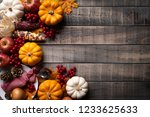 top view of  autumn maple... | Shutterstock . vector #1233625633