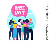 happy friendship day greeting... | Shutterstock . vector #1233631123