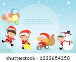merry christmas  santa claus... | Shutterstock .eps vector #1233654250