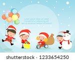 merry christmas  santa claus... | Shutterstock .eps vector #1233654250