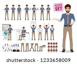 male business character... | Shutterstock .eps vector #1233658009