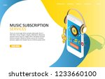 music subscription services... | Shutterstock .eps vector #1233660100