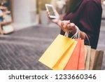 consumerism  shopping ... | Shutterstock . vector #1233660346