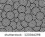 black and white circle pattern...