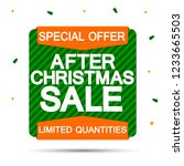 after christmas sale  banner... | Shutterstock .eps vector #1233665503