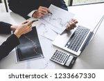 business team colleagues... | Shutterstock . vector #1233667330