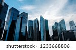 different type of sky scraper... | Shutterstock . vector #1233668806