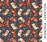 christmas seamless pattern....   Shutterstock .eps vector #1233672226