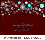 vintage blue  pink and silver... | Shutterstock .eps vector #1233672370