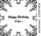 happy birthday invitation card... | Shutterstock .eps vector #1233674839