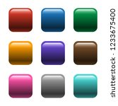 shiny square color buttons | Shutterstock . vector #1233675400