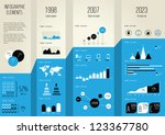 set elements of infographics | Shutterstock .eps vector #123367780