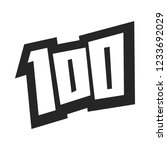 number 100   one hundred cool... | Shutterstock . vector #1233692029