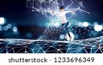 experiencing virtual technology ... | Shutterstock . vector #1233696349