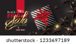 black friday sale banner layout ... | Shutterstock .eps vector #1233697189
