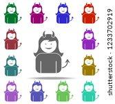 Girl Demon Icon. Elements Of...