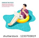 downshifting escaping office... | Shutterstock .eps vector #1233703819