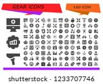 vector icons pack of 120 filled ... | Shutterstock .eps vector #1233707746