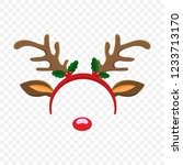 funny mask with christmas... | Shutterstock .eps vector #1233713170