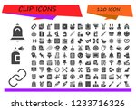 vector icons pack of 120 filled ... | Shutterstock .eps vector #1233716326