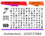 vector icons pack of 120 filled ...   Shutterstock .eps vector #1233717883