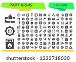 vector icons pack of 120 filled ... | Shutterstock .eps vector #1233718030