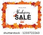 autumn thanksgiving sale season ... | Shutterstock .eps vector #1233722263