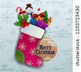 vector illustration of merry... | Shutterstock .eps vector #1233723430