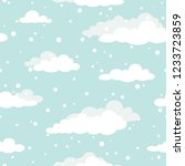 winter seamless pattern with... | Shutterstock .eps vector #1233723859