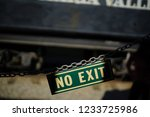 No Exit Sign On Train Museum ...