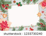 template of christmas letters... | Shutterstock .eps vector #1233730240